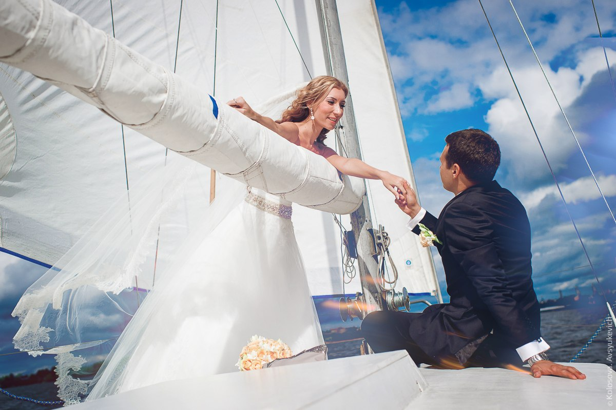 Свадебная прогулка под парусами