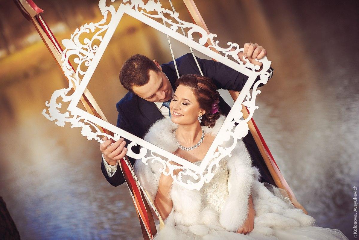 Фотосъемка с аксессуарами-осенняя свадьба