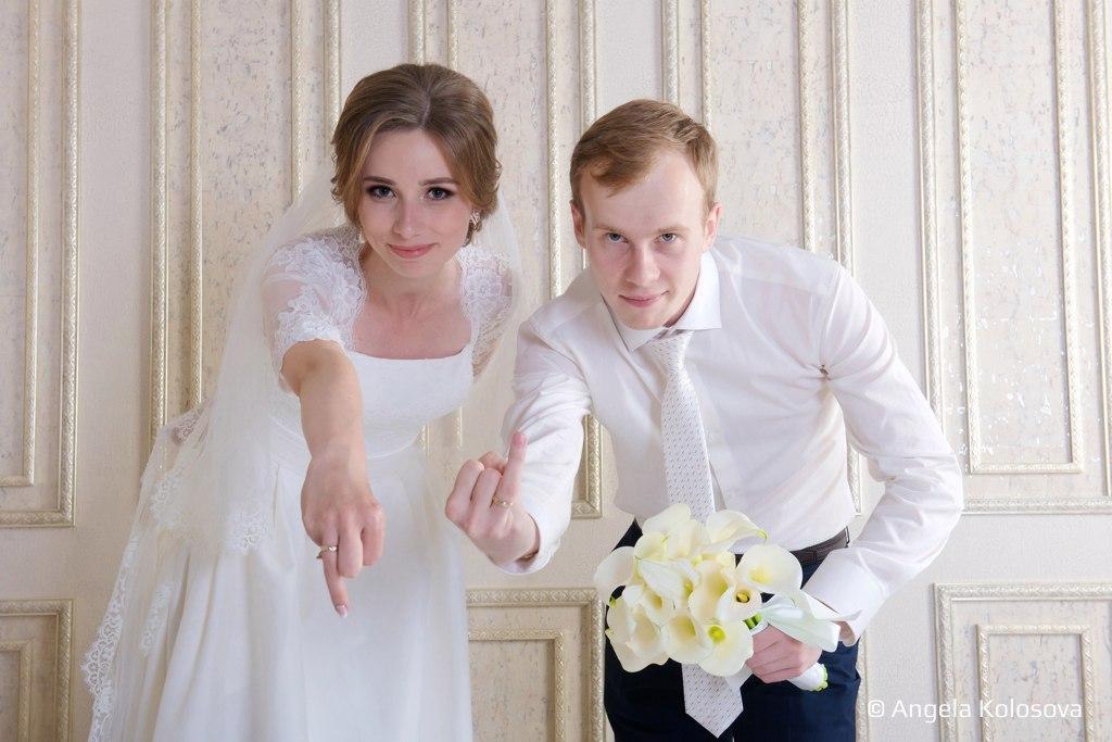 Свадебная фотосессия в студии Станислав Марианна